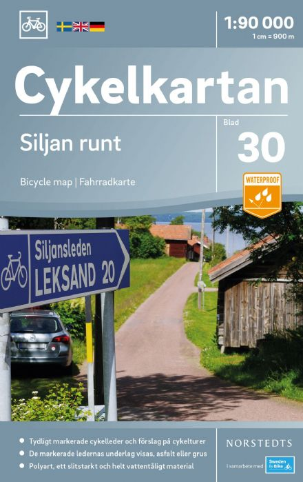 Sweden Cycling Map 30 - Siljan Lake & Surroundings
